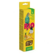 Палочки Рио для волнистых попугайчиков и экзотов с тропическими фруктами, 2х40 г