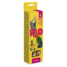 Палочки Рио для средних попугаев с тропическими фруктами, 2х75 г