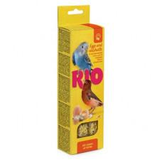 Палочки Рио для всех видов птиц с яйцом и ракушечником, 2х40 г