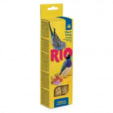 Палочки Рио для волнистых попугайчиков и экзотов с мёдом, 2х40 г