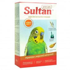 Корм Султан для волнистых попугаев, трапеза с морской капустой, 500 г