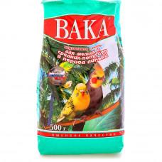 Корм Вака ВК для мелких и средних попугаев при линьке, 500 г