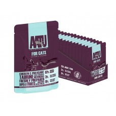 AATU паучи для кошек с курицей и фазаном, AATU FOR CATS CHICKEN & PHEASANT, 85 гр