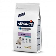 Корм Advance Hairball для вывода шерсти у кошек, индейка/рис