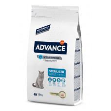 Корм Advance Sterilized Turkey для стерилизованных кошек, индейка