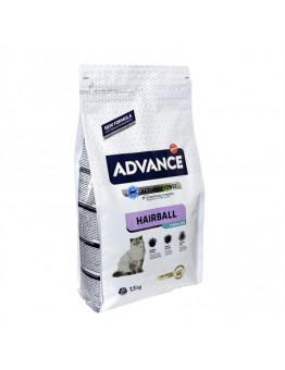 Корм Advance Sterilized Hairball для вывода шерсти у стерилизованных кошек