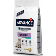 Корм Advance Sterilized Hairball для вывода шерсти у стерилизованных кошек, 10 кг
