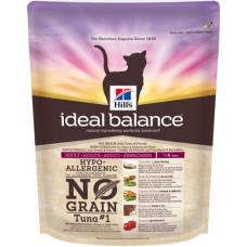 Корм Hills Ideal Balance No Grain для кошек от 1 года до 6 лет, беззерновой, тунец