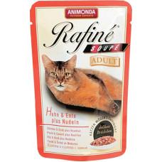 Корм Animonda Rafine Soupe Adult для кошек, курица/утка/паста, пауч, 100 г
