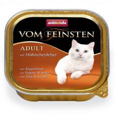 Корм Animonda Vom Feinsten Classic для кошек, куриная печень, ламистер, 100 г