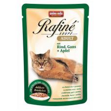 Корм Animonda Rafine Soupe Adult для кошек, говядина/гусь/яблоки, пауч, 100 г
