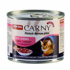 Animonda консервы для кошек с говядиной, индейкой и креветками, Carny Adult