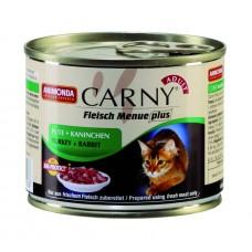 Animonda консервы для взрослых кошек с индейкой и кроликом, Carny Adult, 200 гр