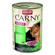 Animonda консервы для кошек с индейкой и кроликом, Carny Adult