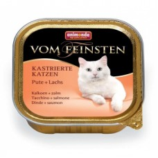 Animonda консервы для кастрированных кошек с индейкой и лососем, Vom Feinsten for castrated cats