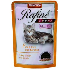 Animonda паучи для котят с индейкой, сердцем и морковью, Rafine Soupe Kitten