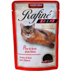 Корм Animonda Rafine Soupe Adult для кошек, индейка/телятина/сыр, пауч, 100 г