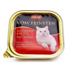Animonda консервы для кастрированных кошек с индейкой и томатами, Vom Feinsten for castrated cats