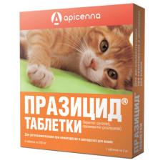 "Apicenna ""Празицид"" для кошек, 6 таблетки по 200 мг"