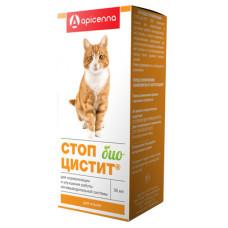 """Суспензия Apicenna """"Стоп-Цистит Био"""" для кошек, лечение и профилактика МКБ, 30 мл"""