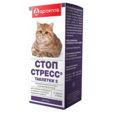 "Apicenna ""Стоп-Стресс"" для кошек, 15 таблеток по 200 мг"