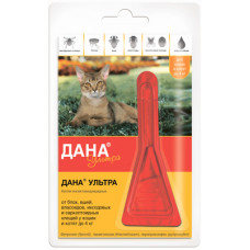 "Капли Apicenna ""Дана Ультра"" для кошек и котят до 4 кг, 1 пипетка, 0.32 мл"