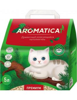 Наполнитель AromatiCat древесный комкующийся, 4 кг, 10 л