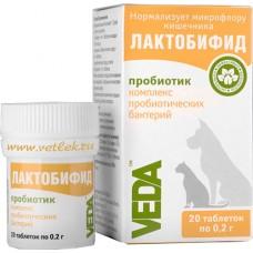 Веда Лактобифид-пробиотик для восстановления микрофлоры кишечника, 20 таблеток