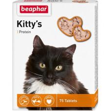 Витамины Beaphar (рыбки) Kitty's Protein для кошек с протеином, 75 шт.