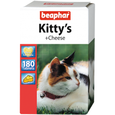 Витамины (мышки) для кошек со вкусом сыра, 180 шт., Kitty's Cheese