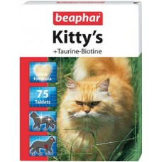 Витамины (сердечки) для кошек с таурином и биотином, 75 шт., Kitty's Taurine + Biotin