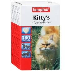 Витамины (сердечки) для кошек с таурином и биотином, 180 шт., Kitty's Taurine + Biotin