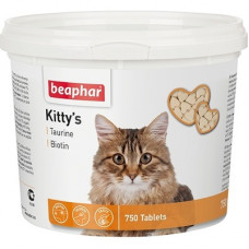 Витамины Beaphar (сердечки) Kitty's Taurine + Biotin для кошек с таурином и биотином, 750 шт.