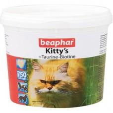 Витамины д/кошек с таурином и биотином, сердечки, 750шт., Kitty's Taurine + Biotin