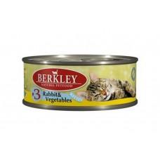 Корм Berkley Kitten Rabbit&Vegetables для котят, №3, кролик/овощи, банка, 100 г