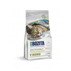 Корм Bozita Indoor & Sterilised для стерилизованных, растущих, взрослых и малоподвижных кошек, беззерновой, курица