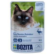 Корм Bozita для кошек, олень, кусочки в соусе, пауч, 85 г