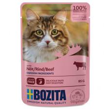 Корм Bozita для кошек, говядина, кусочки в соусе, пауч, 85 г