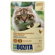 Корм Bozita для кошек, курица, кусочки в соусе, пауч, 85 г