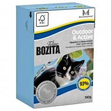 Корм Bozita Outdoor&Active для активных кошек, лось, кусочки в желе, tetra pak, 190 г