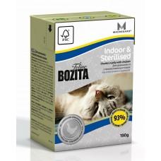 Корм Bozita Indoor&Sterilised для домашних и стерилизованных кошек, курица, tetra pak, 190 г