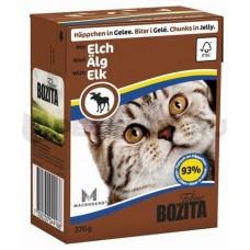 Корм Bozita in Jelly with Elk для кошек, лось, кусочки в желе, tetra pak, 370 г