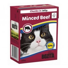 Корм Bozita in Jelly with Minced Beef для кошек, рубленая говядина, кусочки в желе, tetra pak, 370 г