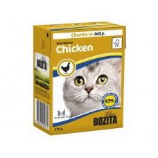 Корм Bozita in Jelly with Minced Chicken для кошек, рубленая курица, кусочки в желе, tetra pak, 370 г