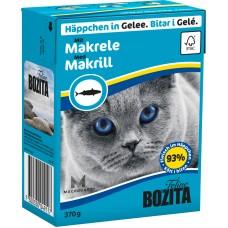 Корм Bozita in Jelly with Mackerel для кошек, скумбрия, кусочки в желе, tetra pak, 370 г