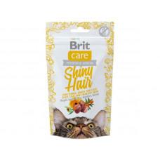 Лакомство Brit Care Shiny Hair для кошек, для блестящей шерсти, 50 г