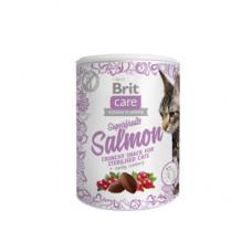 Лакомство Brit Care Superfruits Salmon Sterilised для стерилизованных кошек, лосось, 100 г