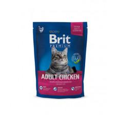 Корм Brit Premium Cat Adult для взрослых кошек, курица/куриная печень