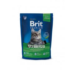 Корм Brit Premium Cat Sterilised для стерилизованных кошек, курица/куриная печень