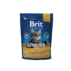 Корм Brit Premium Cat Sterilised для стерилизованных кошек, утка/курица/куриная печень